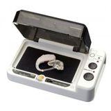 Audioline amplicomms Trocknungsbox DRY BOX DB100plus mit Batterietester für Hörgeräte