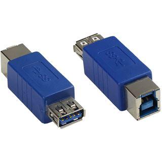 Good Connections Adapter USB 3.0 Typ A Kupplung auf Typ B Kupplung blau