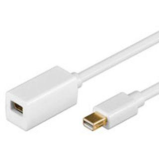 2.00m Good Connections miniDisplayport 1.0 Verlängerungskabel Mini Displayport Stecker auf Mini Displayport Buchse Weiß vergoldet