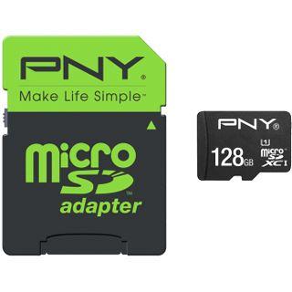 128 GB PNY High Performance microSDXC Class 10 Retail inkl. Adapter auf SD