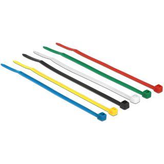 Delock Kabelbinder farbig 100 Stk L100 x B2.5 mm
