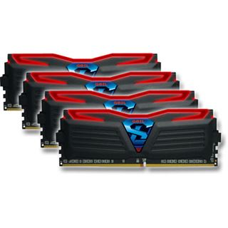 16GB GeIL Super Luce schwarz LED rot DDR4-3400 DIMM CL16 Quad Kit