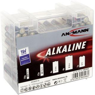 Ansmann 35er-Vorratsbatteriebox 14 x Micro-AAA, 12 x Mignon-AA, 4 x Baby-C, 4 x Mono-D, 1 x 9V-E-Block (1520-0004)