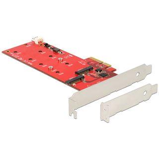 Delock Adapter für 2x M.2 zu PCIe 2.0 x4 (89388)