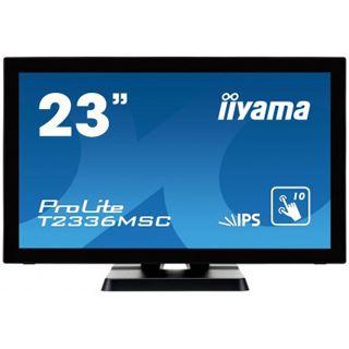 "23"" (58,42cm) iiyama T2336MSC-B2 Touch schwarz 1920x1080 1xDVI/1xHDMI 1.3/1xVGA"