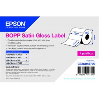 Epson Bopp Satin Label 102mm x 152mm 960 Label LABEL