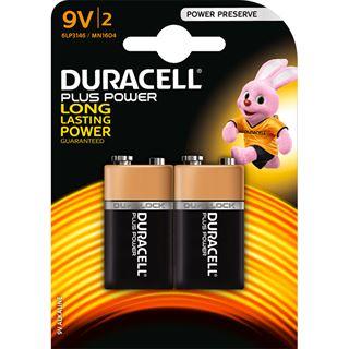 Duracell Batterien 9V Block Plus Power 2er-Pack