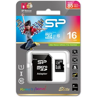 16 GB Silicon Power microSDHC Class 10 Retail inkl. Adapter