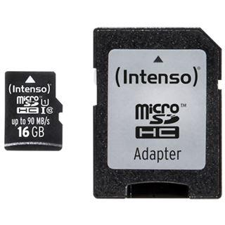 16 GB Intenso Professional Performance microSDHC Class 10 U1 Retail