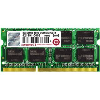 8GB Transcend TS1GSK64V6H DDR3-1600 SO-DIMM CL11 Single