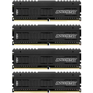 32GB Crucial Ballistix DDR4-2666 DIMM CL16 Quad Kit