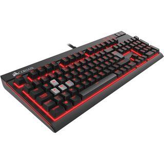 Corsair STRAFE CHERRY MX Red USB Deutsch schwarz (kabelgebunden)