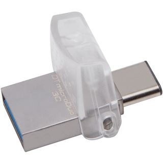 32 GB Kingston DataTraveler microDuo Typ C silber USB 3.1