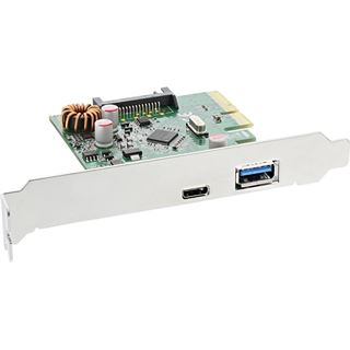 InLine 76660A 2 Port PCIe 2.0 x4 inkl. Low Profile Slotblech / Low Profile retail