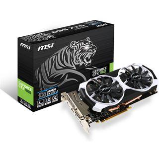 4096MB MSI GeForce GTX 960 4GD5T OC Aktiv PCIe 3.0 x16 (Retail)