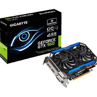4096MB Gigabyte GeForce GTX 960 OC Aktiv PCIe 3.0 x16 (Retail)