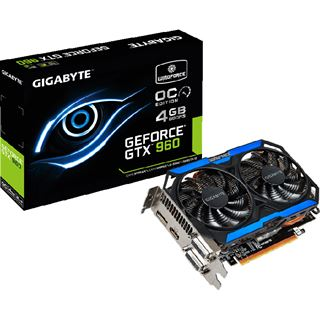 4GB Gigabyte GeForce GTX 960 OC Aktiv PCIe 3.0 x16 (Retail)