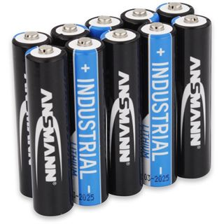 Ansmann Lithium-Industriebatterie Micro AAA 10er-Pack (1501-0010)