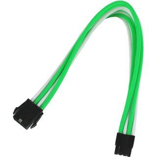 Nanoxia 8-Pin PCI-E Verlängerung 30 cm grün/weiß