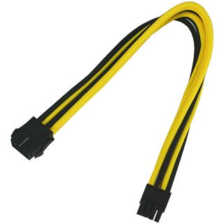 Nanoxia 8-Pin PCI-E Verlängerung 30 cm schwarz/gelb