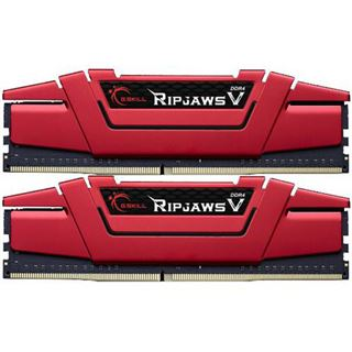 8GB G.Skill RipJaws V rot DDR4-2400 DIMM CL15 Dual Kit