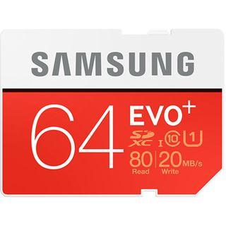 64 GB Samsung EVO Plus SDXC Class 10 U1 Retail