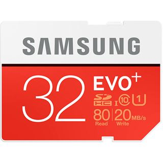 32 GB Samsung EVO Plus SDHC Class 10 U1 Retail