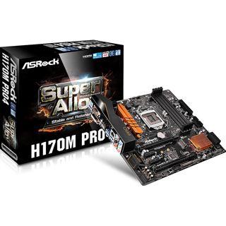 ASRock H170M Pro4 Intel H170 So.1151 Dual Channel DDR4 mATX Retail