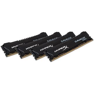 16GB Kingston HyperX Savage DDR4-3000 DIMM CL15 Quad Kit