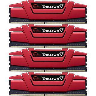 16GB G.Skill RipJaws V rot DDR4-2800 DIMM CL15 Quad Kit
