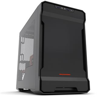 Phanteks Enthoo Evolv ITX mit Sichtfenster Mini Tower ohne Netzteil schwarz/rot