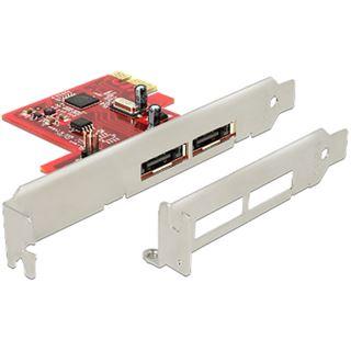 Delock 89432 2 Port PCIe x1 Low Profile retail