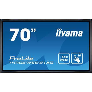 """70"""" (177,80cm) iiyama ProLite TH7067MIS-B1AG Touch schwarz 1920x1080 1xDVI / 3x HDMI 1.3 / 3x VGA"""
