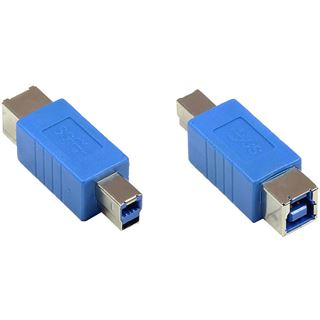 Good Connections Adapter USB 3.0 Typ B Stecker auf Typ B Buchse blau