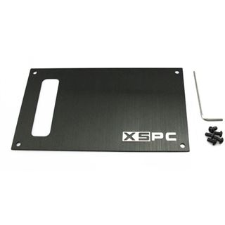 XSPC Dual Bayres/Pump Faceplate schwarz