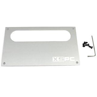XSPC Dual Bayres/Pump Faceplate silber