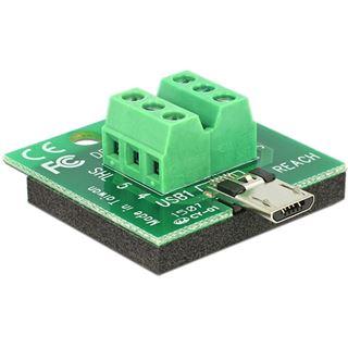 DeLOCK Micro USB Stecker auf 6-Pin-Terminalblock Adapter (65597)