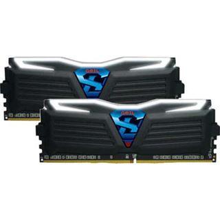 16GB GeIL Super Luce schwarz LED weiß DDR4-3000 DIMM CL15 Dual Kit
