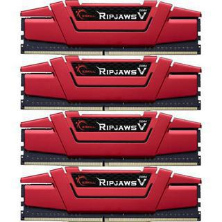 64GB G.Skill RipJaws V rot DDR4-3000 DIMM CL15 Quad Kit
