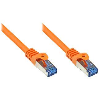 (€0,72*/1m) 50.00m Good Connections Cat. 6a Patchkabel S/FTP PiMF RJ45 Stecker auf RJ45 Stecker Orange halogenfrei/Rastnasenschutz