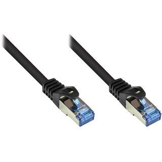 (€0,72*/1m) 50.00m Good Connections Cat. 6a Patchkabel S/FTP PiMF RJ45 Stecker auf RJ45 Stecker Schwarz halogenfrei/Rastnasenschutz