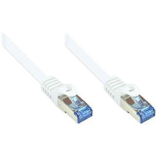 (€0,73*/1m) 30.00m Good Connections Cat. 6a Patchkabel S/FTP PiMF RJ45 Stecker auf RJ45 Stecker Weiß halogenfrei/Rastnasenschutz