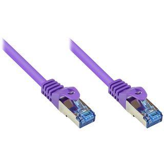 (€0,75*/1m) 20.00m Good Connections Cat. 6a Patchkabel S/FTP PiMF RJ45 Stecker auf RJ45 Stecker Violett halogenfrei/Rastnasenschutz