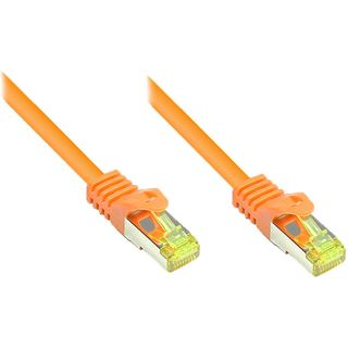 (€3,27*/1m) 1.50m Good Connections Cat. 7 Patchkabel S/FTP PiMF RJ45 Stecker auf RJ45 Stecker Orange halogenfrei/Rastnasenschutz/vergoldet