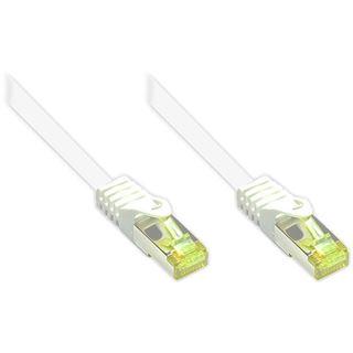 (€26,00*/1m) 0.15m Good Connections Cat. 7 Patchkabel S/FTP PiMF RJ45 Stecker auf RJ45 Stecker Weiß halogenfrei/Rastnasenschutz/vergoldet