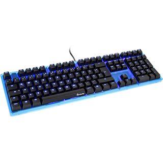 Ducky ONE Gaming CHERRY MX Black USB Deutsch blau (kabelgebunden)