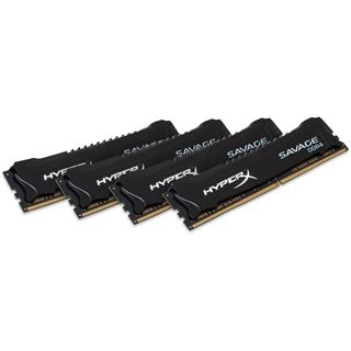 64GB Kingston HyperX Savage DDR4-2666 DIMM CL15 Quad Kit
