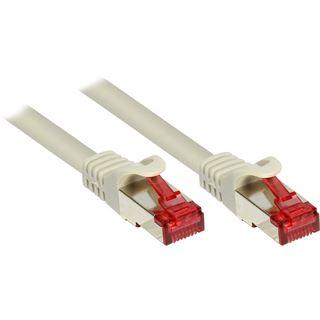 (€3,27*/1m) 1.50m Good Connections Cat. 6 Patchkabel S/FTP PiMF RJ45 Stecker auf RJ45 Stecker Grau PVC/Rastnasenschutz/vergoldet