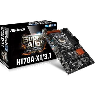 ASRock H170A-X1/3.1 Intel H170 So.1151 Dual Channel DDR4 ATX Retail