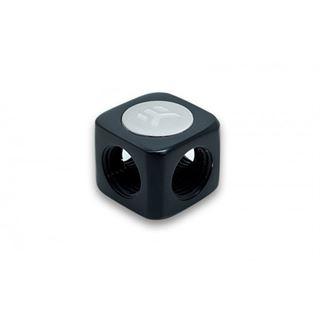 EK Water Blocks EK-AF X-Splitter 4x G1/4 female - schwarz